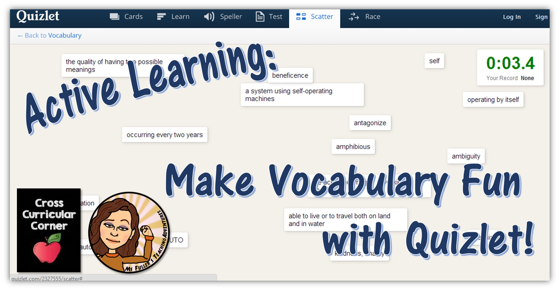 Making Vocabulary Fun With Quizlet