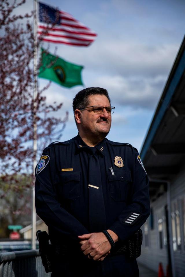 Police Chief James Schrimpsher of the city of Algona, Washington