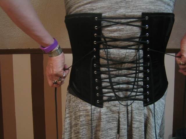 Wearing a Corset for Crossdressing: Cinched on the Bottom and Top