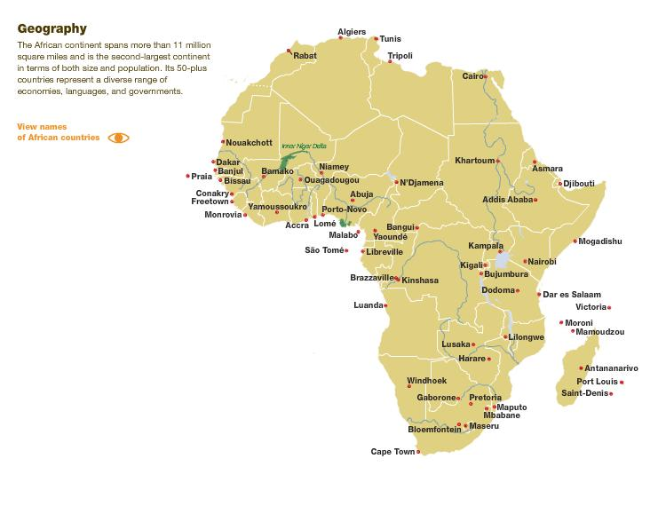 ... NATURE IN EAST AFRICA Africa Map Countries And Capitals Online Maps  Africa Country Map Africa Map Countries And Capitals Online Maps Africa  Country Map ...