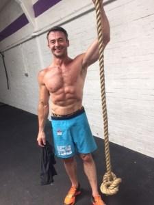 Scott after hitting hero WOD Glen at CrossFit Blackwater