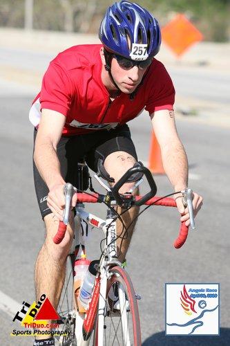 Chris on bike close up