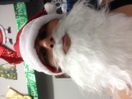 Better watch out.. You better not cry!!! Scary Santa is watching!!