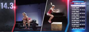 WOD 14.3 can be judged Sunday at open gym 11am-1pm