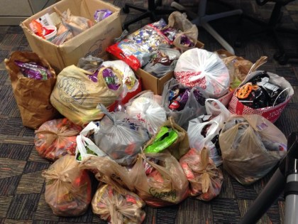 This year Florida was able to send over 400 pounds of  Halloween candy to to the troops! Thanks CCP for your contribution!
