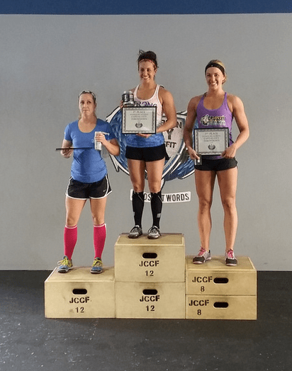 Womens Podium Elise James - 2014 Jefferson City Throwdown