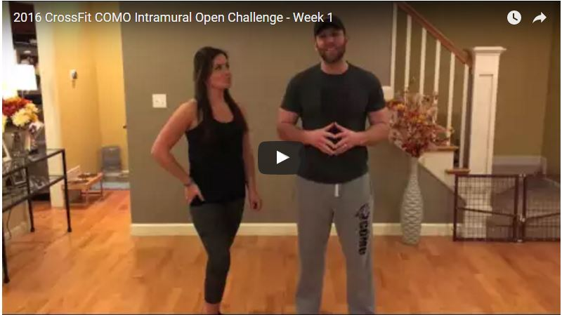2016 CrossFit COMO Intramural Open Week 1 – Challenge