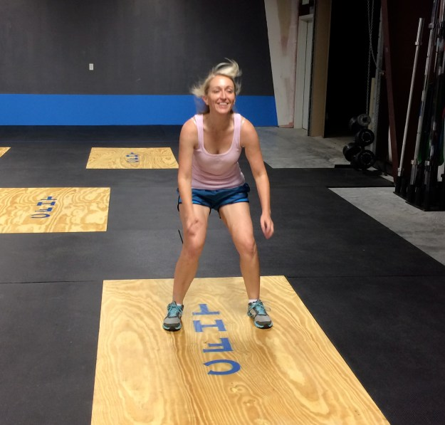 Liz loves broad jumps!