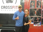 Tim and Jessica holding down the new 7 pm class!