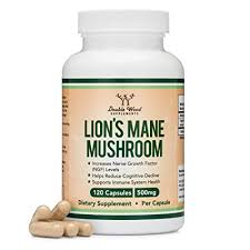 Double Wood Supplements Lions Mane Mushroom Capsules