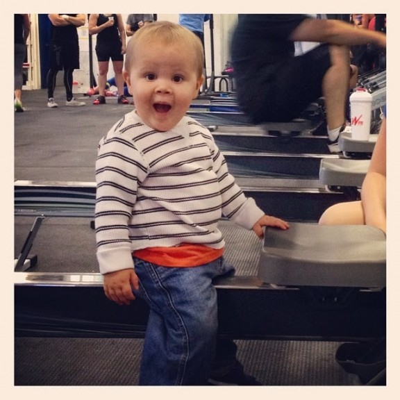 Bode, the happiest and cutest kid around. Also, someone needs to teach the kid how to row.