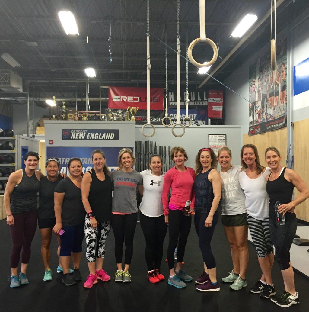 Some of our Amazing CFNE Mom's rallying yesterday for a Mother's Day WOD!