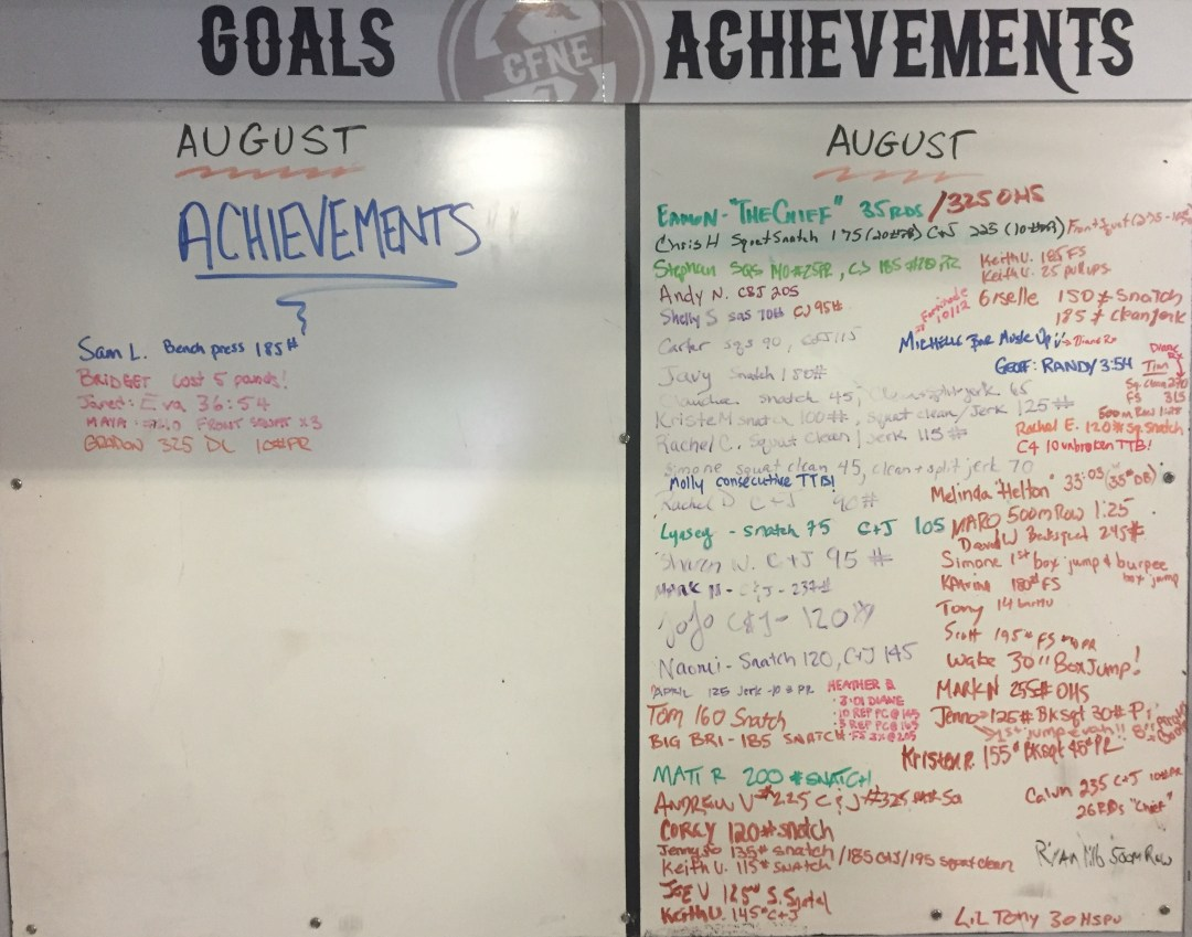 August Goals & Achievements