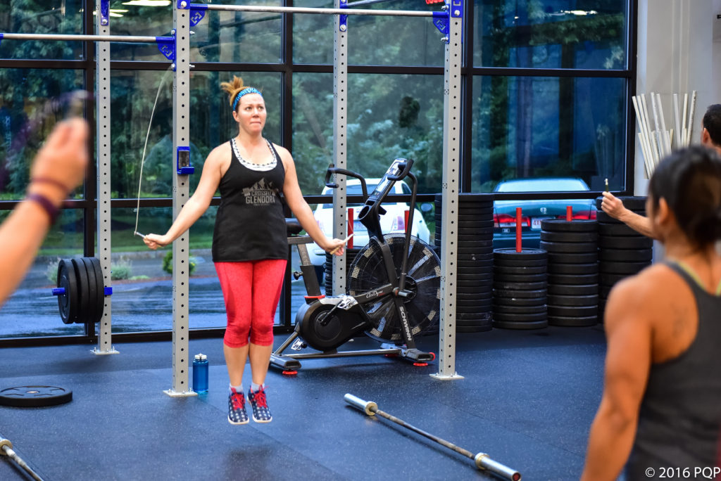 Annie eats double unders for breakfast...and probably something else nutritious.