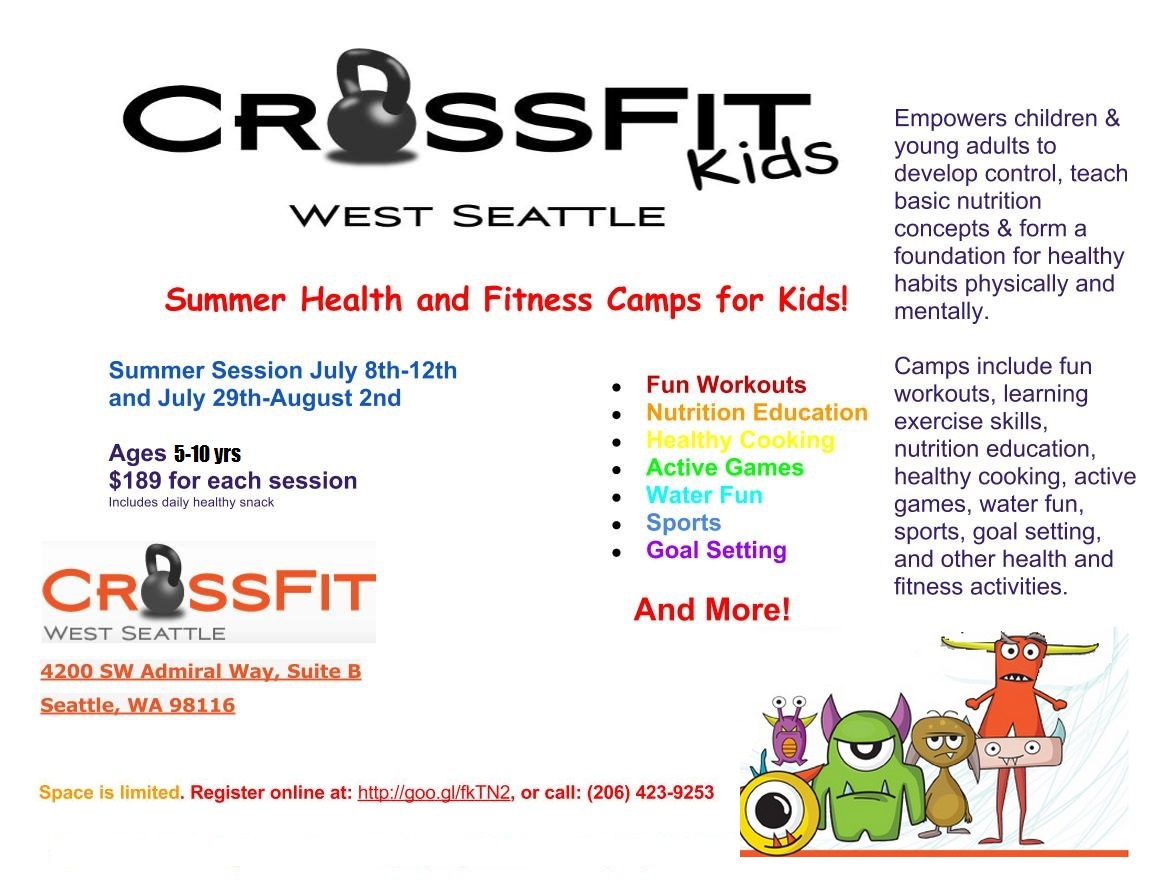 Crossfit Kids Camp July 8th 12th And July 29th August 2nd