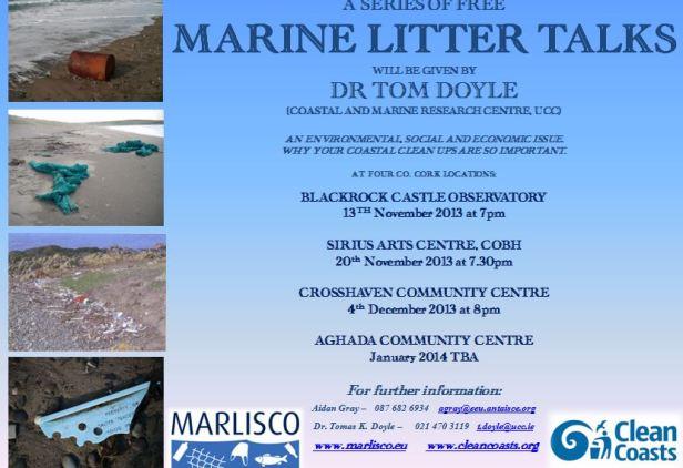 Marine Litter Talks - Co Cork locations