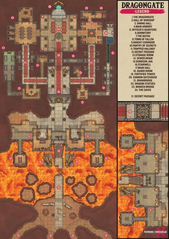 The Dragon Gate DnD Battlemap small