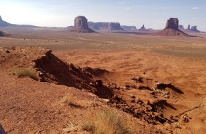 New Canyon forming Monument Valley, Arizona, showing it starts small