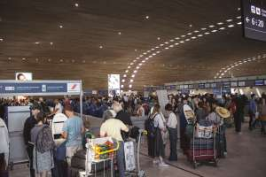 people in airport, families can travel and immigrate togethertogether