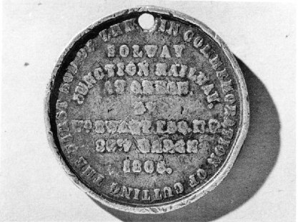 Medal commemorating 'Cutting the first sod'