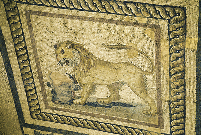 Lion Floor Mosaic
