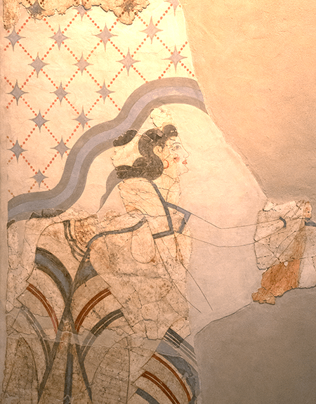 Fresco of Woman