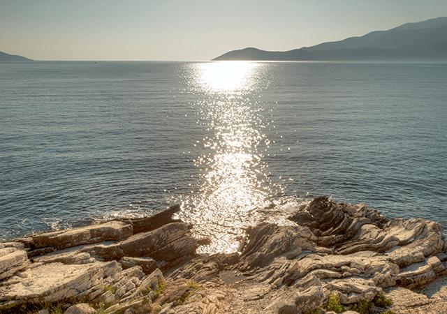 Sun Sparkling Aegean Sea