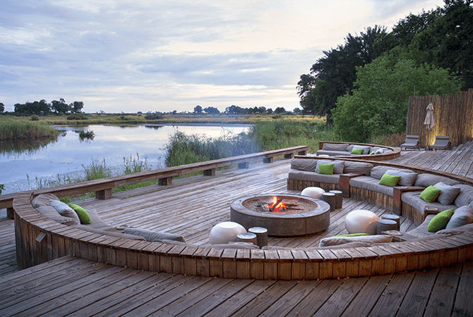 King's Pool in Botswana sits on a lagoon off the  Linyanti River and is situated so guests can take in the serene panorama in comfort.
