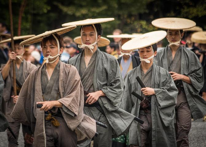Jidai Matsuri marchers