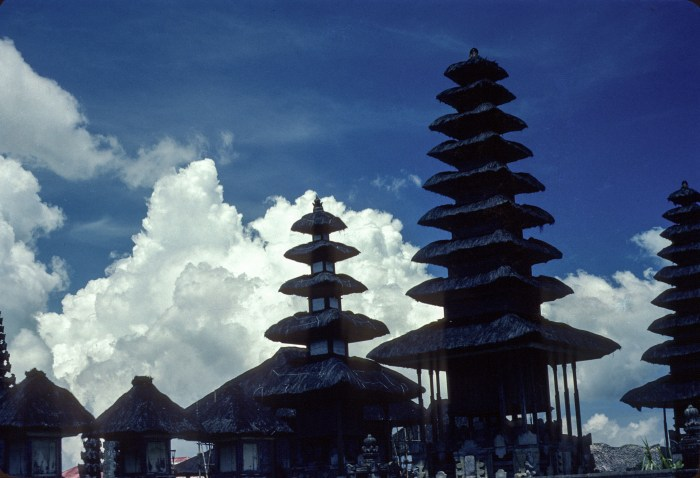 Balinese Temple in the clouds