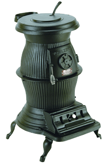 Large Voltzelgang Pot Belly Coal Stove