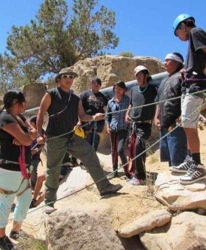 Hopi rock climber training with Adventures for Hopi