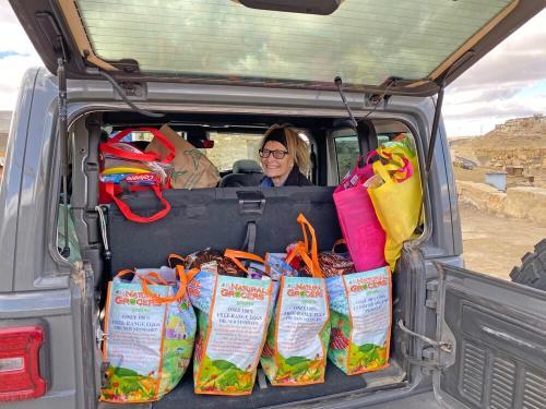Delivering Hopi foster care gifts December 2019