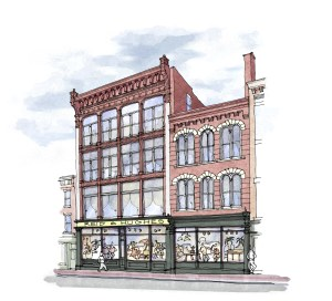 Crosskey Architects, LLC vision for Reid and Hughes building of the future