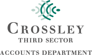Crossley Third Sector Logo in Green and Grey