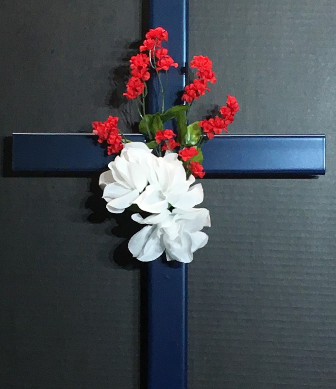 Blue Memorial Cross 126