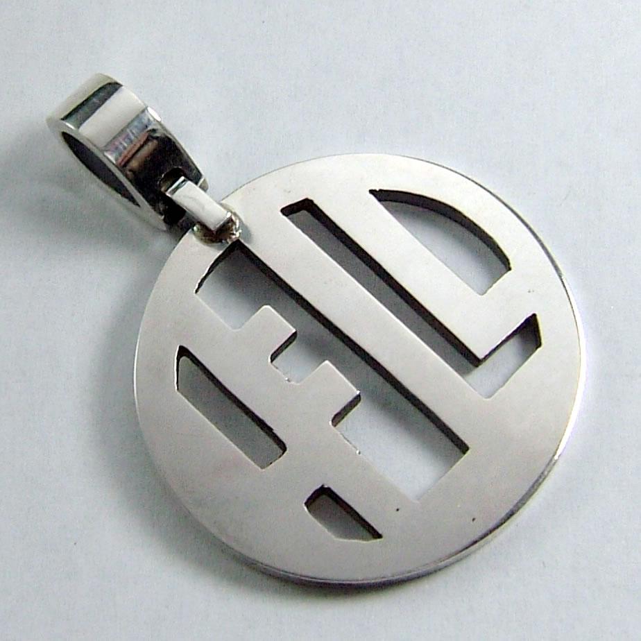 地獄を意味するロゴデザインシルバープレートペンダント「HELL PENDANT」