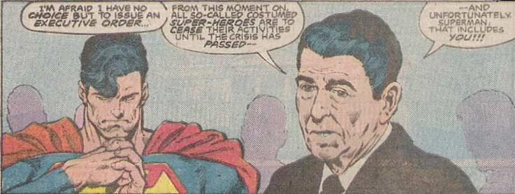 Superman meets Ronald Reagan