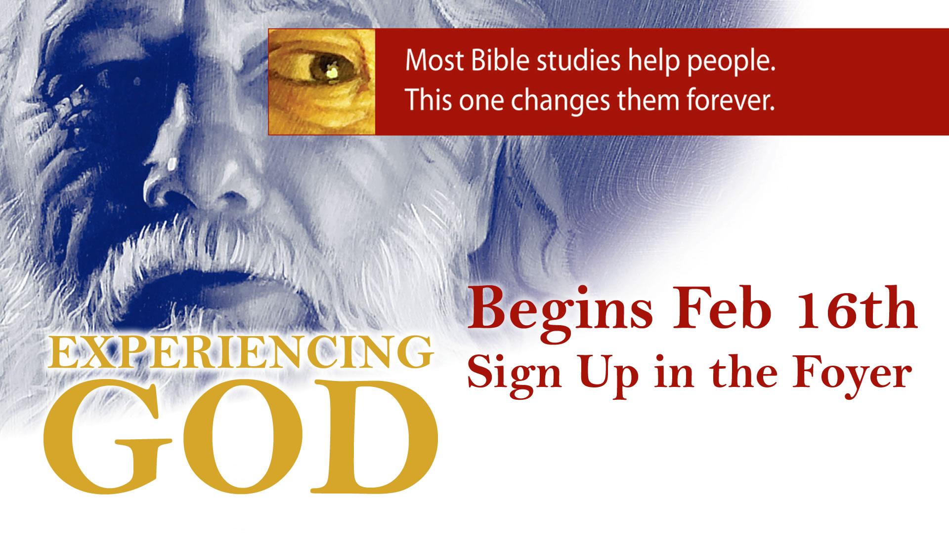 Experiencing God Sunday Morning Study