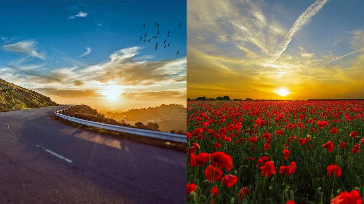 Sunrise and Sunsets are Love