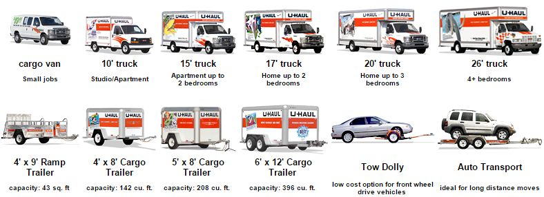 Pick the uHual truck or trailer you need