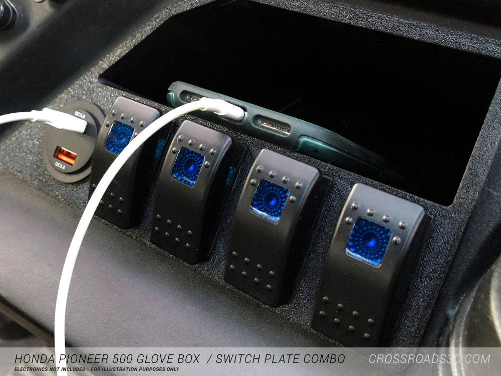 Honda Pioneer 500 Glove box / switch plate combo
