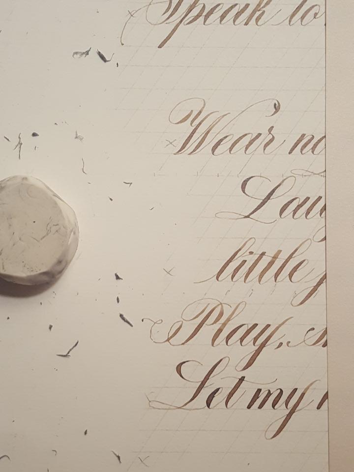Calligraphy, Erasures