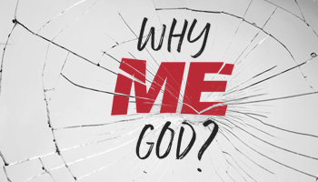 """Small banner image for the sermon series named """"Why Me, God?"""" by Crossroads Church"""