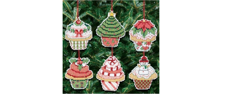 cross stitch christmas ornament kits cross stitch in time - Cross Stitch Christmas Decorations