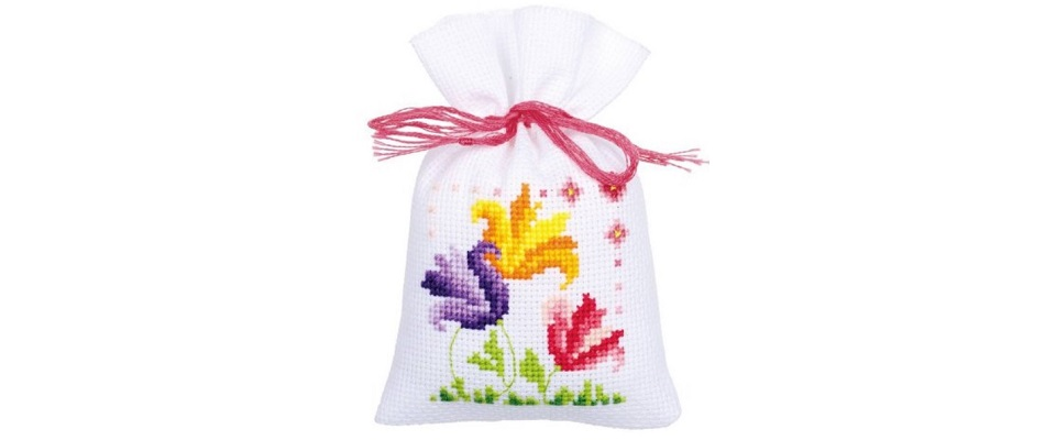 How to Make Cross Stitch Gift Bags
