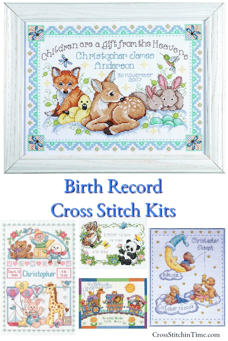 Birth Record Cross Stitch Sampler Kits