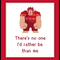 Wreck It Ralph Cross Stitch Pattern Disney Inspirational Quote