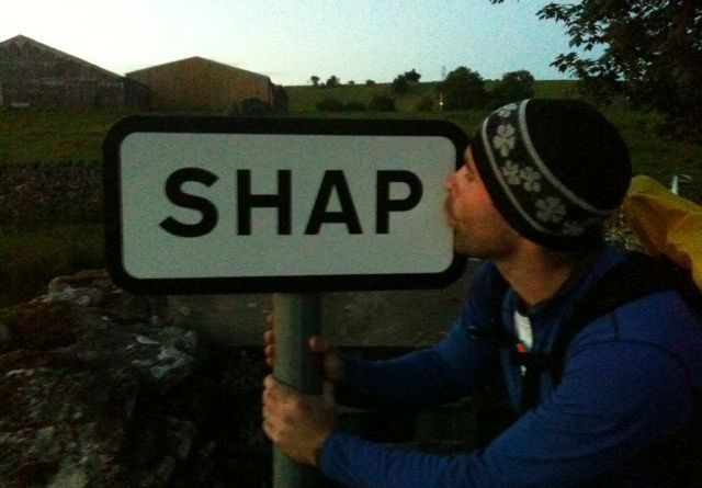 Cross the UK: Coast to Coast Richard Jefferson is pleased to reach Shap!