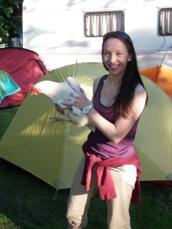 Cross the UK: Duke of Edinburgh Camping at Orchard Campsite Catch a Chicken!